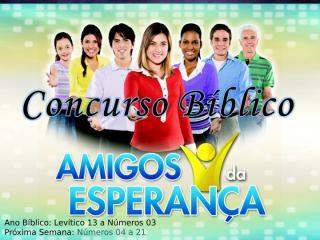 Concurso Bíblico 2011 - 06.ppt