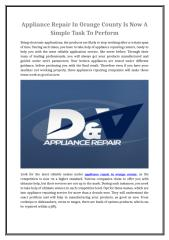 Appliance Repair In Orange County Is Now A Simple Task To Perform.doc