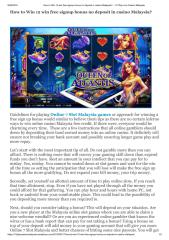 How to Win 12 win free signup bonus no deposit in casino Malaysia.pdf