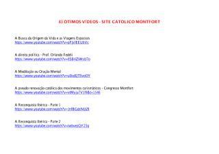 83 Ótimos Vídeos - Site Católico Montfort.pdf