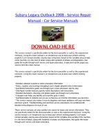 Subaru Legacy Outback 2008 - Service Repair Manual - Car Service Manuals.pdf