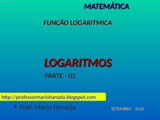logaritmo - parte - 01 - data-030910.pps