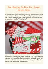 Purchasing Online For Secret Santa Gifts.pdf