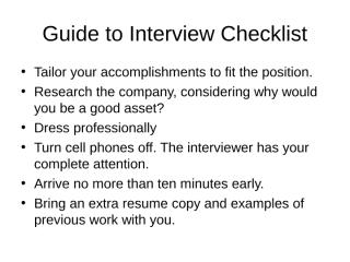 interview tips.ppt