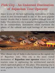 Pink City - An Endorsed Destination of Rajasthan Tour Operator.pdf