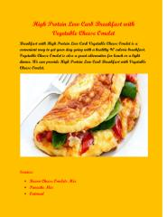 High Protein Low Carb Breakfast with Vegetable Cheese Omelet.pdf