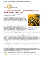 The innovation through acquistion strategy_why the pay off always there.pdf