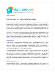 Build your brand with Search Engine Optimization.doc