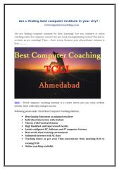 Are u finding best computer institute in your city - tccicomputercoaching.com.doc