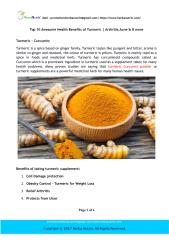 Top 10 Awesome Health Benefits of Turmeric _ Arthritis,Acne & 8 more.pdf