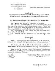 QD Cong nhan BCH Truong THPT  Co Ma 2009-2010.doc