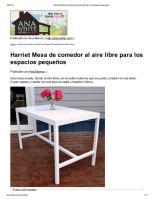 Harriet Mesa de comedor al aire libre para los espacios pequeños.pdf