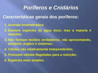 Poríferos e Cnidários.pptx