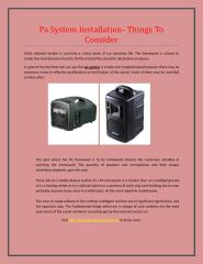 Pa System Installation - Things to consider.pdf