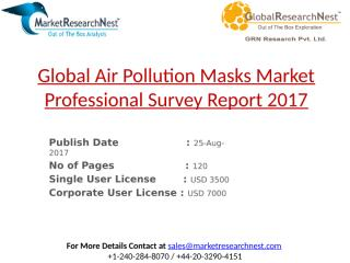 Global Air Pollution Masks Market Professional Survey Report 2017.pptx