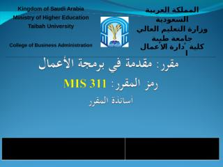 MIS 311- Introduction.ppt