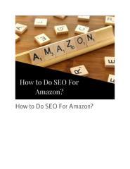 How to Do SEO For Amazon.pdf