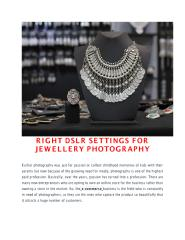 RIGHT DSLR SETTINGS FOR JEWELLERY PHOTOGRAPHY.pdf