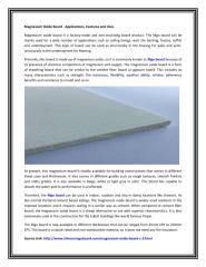Magnesium Oxide Board - Applications, Features and Uses.PDF