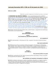 Instrução Normativa SRF nº 390, de 30 de janeiro de 2004 ( Apuração da CSLL).doc