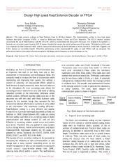 Design High speed Reed Solomon Decoder on FPGA.pdf